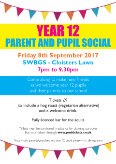 Year 12 Parent and Pupil Social
